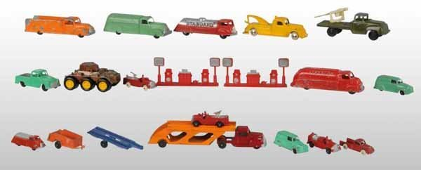 2110: Lot of 18: Tootsie Toy Die-Cast Vehicle Toys.