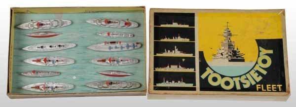 2116: Lot of 2: Tootsie Toy Navy Fleet Die-Cast Sets.