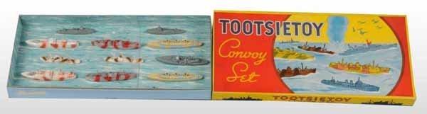 2117: Tootsie Toy No. 5900 Die-Cast Convoy Boat Set.