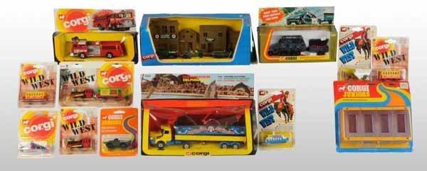 2123: Lot of 13: Corgi Vehicle Die-Cast Toys.