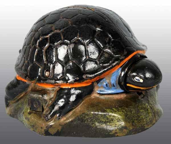 2686: Cast Iron Turtle Bank Mechanical Bank.