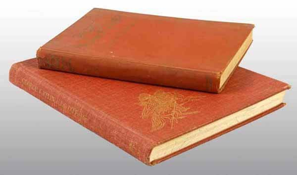22: Lot of 2: Antique Leather Bound Books.