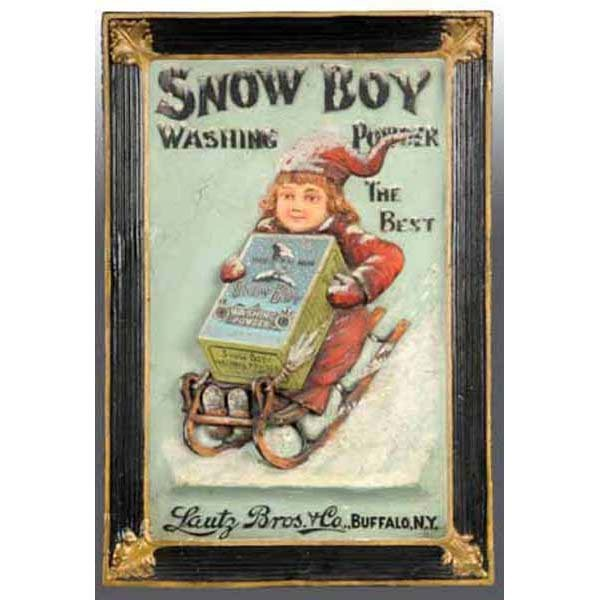 687: Snow Boy Washing Powder Sign.