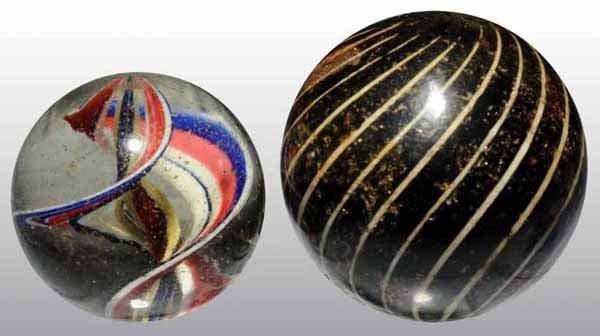 1000: Lot of 2: Handmade Marbles.