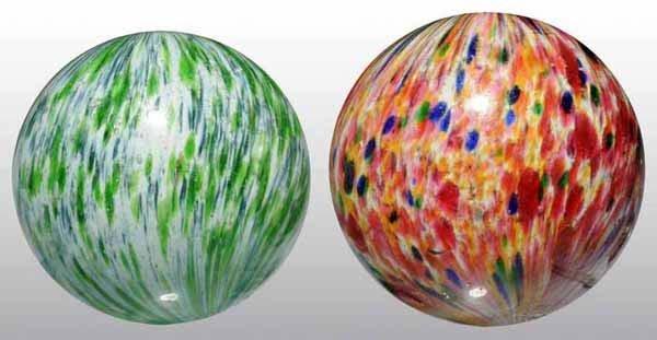 1001: Lot of 2: Onionskin Marbles.