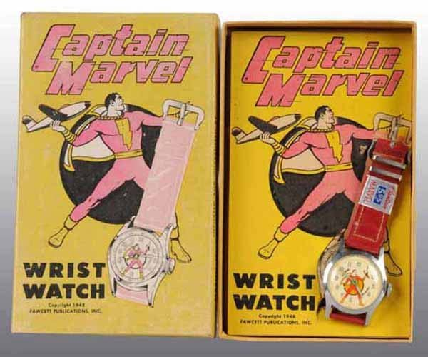 2001: Captain Marvel Wrist Watch in Original Box.