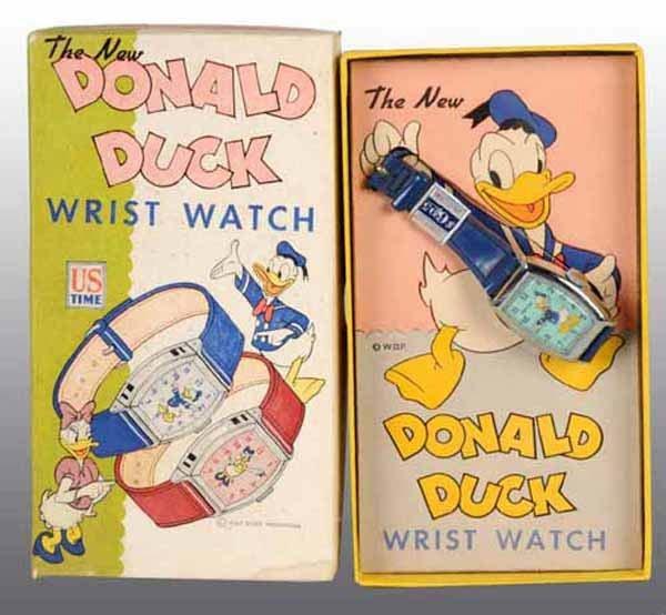 2002: Disney Donald Duck Wrist Watch in Original Box.