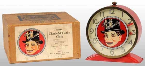 2005: Charlie McCarthy Gilbert Alarm Clock in Orig Box.