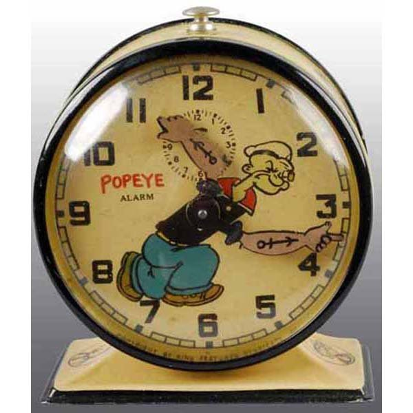 2006: Metal Popeye New Haven Alarm Clock.