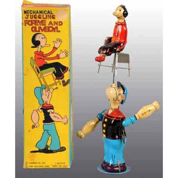 2011: Linemar Juggling Popeye & Olive Oyl in Orig Box.