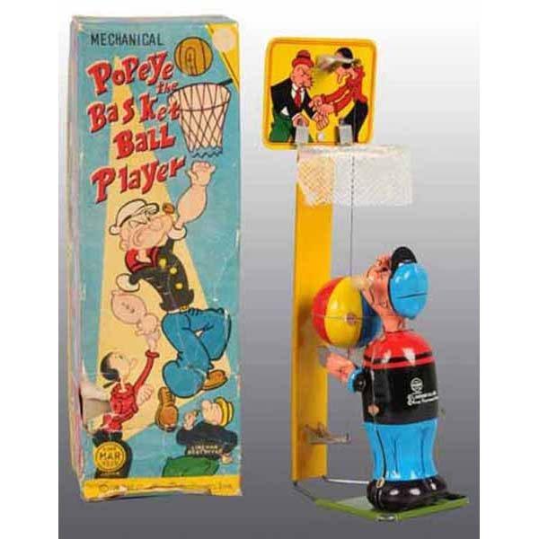 2013: Linemar Popeye Basketball Player Toy in Orig Box.