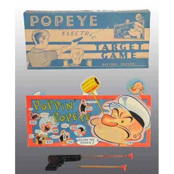 2019: Small Paper Litho Popeye Electric Target Game.