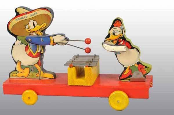 2196: Fisher Price No. 160 Donald & Donna Duck Pull Toy