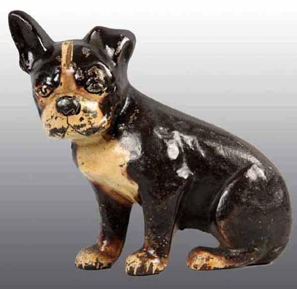 Cast Iron Boston Terrier Pup Wedge Doorstop.