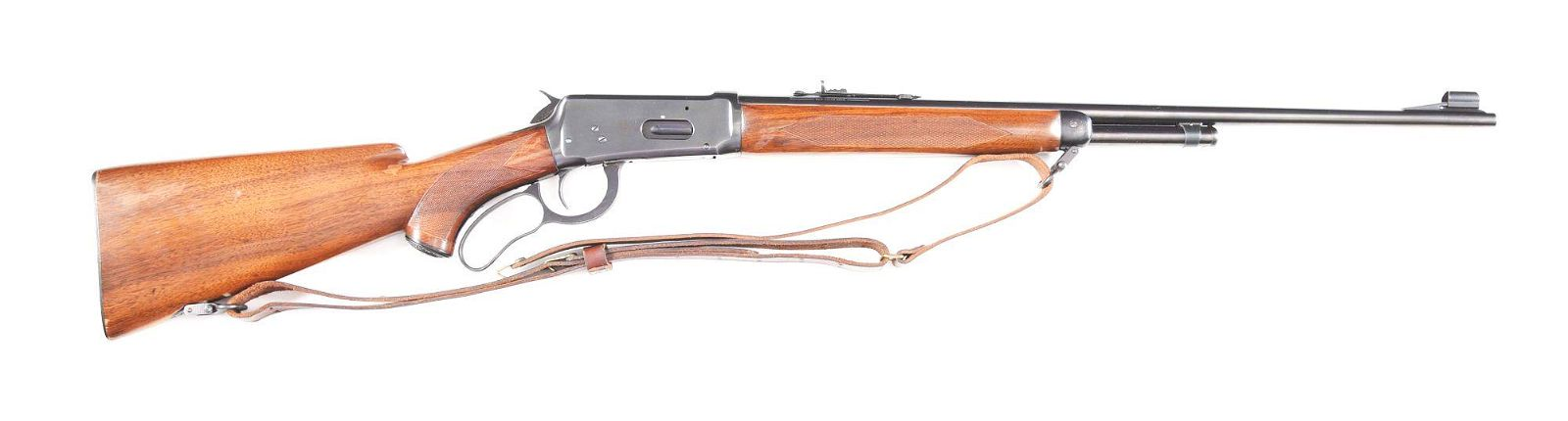 (C) WINCHESTER MODEL 64 DELUXE LEVER ACTION RIFLE IN