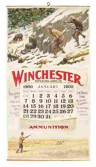 1899 WINCHESTER REPEATING ARMS ADVERTISING CALENDER.