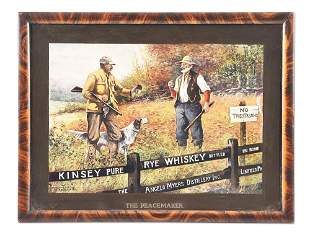 KINSEY PURE RYE WHISKEY THE PEACEMAKER HUNTING