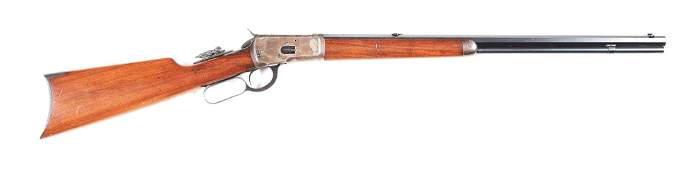 (C) WINCHESTER MODEL 1892 LEVER ACTION RIFLE (1918).