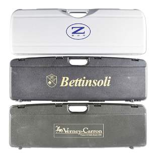 LOT OF 3: SHOTGUN CASES FROM ZOLI, VERNEY CARRON, AND