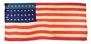 US 34 STAR FLAG ATTRIBUTED TO THE REVENUE CUTTER