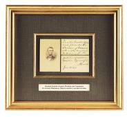 FRAMED ABRAHAM LINCOLN SIGNITURE