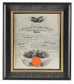 FRAMED NAVY CAPTAIN APPOINTMENT DOCUMENT SIGNED BY