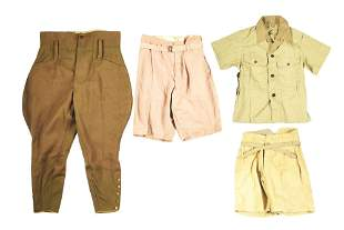 LOT OF 4: IMPERIAL JAPANESE WOOL TROUSERS, TROPICAL