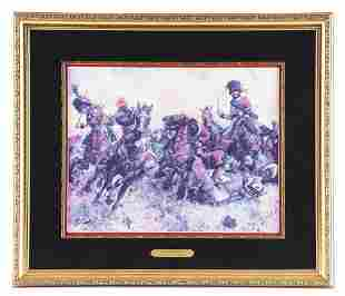 """LIMITED EDITION KEITH ROCCO PRINT """"A CHASSEURS FATE""""."""