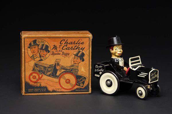 Tin Marx Charlie McCarthy Car Wind-Up Toy.
