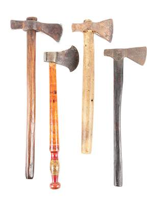 LOT OF 4: 18TH CENTURY BELT AXES.