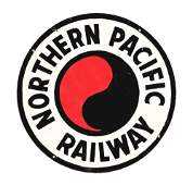 NORTHERN PACIFIC RAILWAY TIN SIGN.