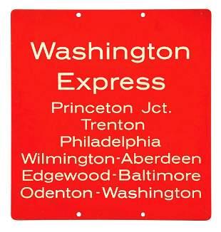 LEXAN WASHINGTON EXPRESS SIGN.