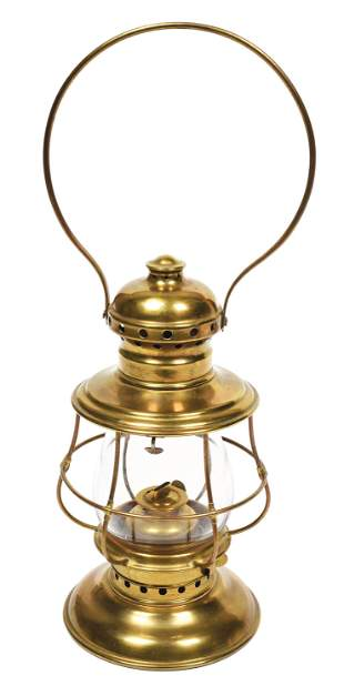STEAM GAUGE NO. 3 BRASS CONDUCTOR'S LANTERN.