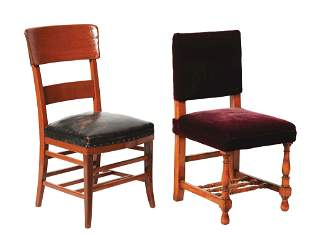 LOT OF 2: RAILROAD LOUNGE CHAIRS.
