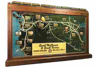 GREAT NORTHERN'S 2 GREAT TRAINS SYSTEM MAP.