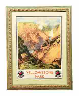 FRAMED NORTHERN PACIFIC YELLOWSTONE.