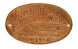 DAVENPORT LOCOMOTIVE & MACHINE WORKS LOCOMOTIVE