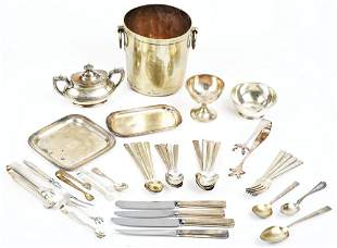 LARGE LOT OF NORTHERN PACIFIC SILVER ITEMS.