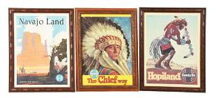 LOT OF 3: SANTA FE ADVERTISEMENTS.