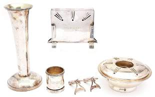 LOT OF 5: MILWAUKEE ROAD SILVER SERVING ITEMS.