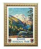FRAMED NORTHERN PACIFIC NATIONAL PARK.