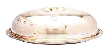 NORTHERN PACIFIC SILVER COVERED DISH.