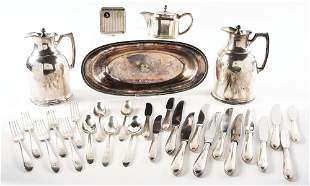 LOT OF GREAT NORTHERN SILVER SERVING ITEMS.