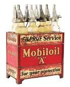"MOBILOIL ""A"" FILPRUF MOTOR OIL COMPLETE SERVICE STATION"