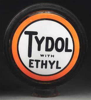 """TYDOL WITH ETHYL COMPLETE 15"""" GLOBE ON ORIGINAL HIGH"""