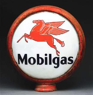 "MOBILGAS COMPLETE 16.5"" GLOBE W/ PEGASUS GRAPHIC ON"
