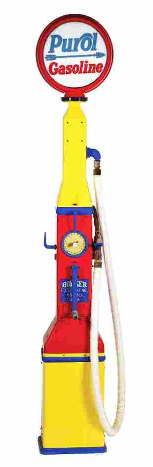 BOWSER MODEL 107 PACEMAKER CLOCK FACE GAS PUMP.