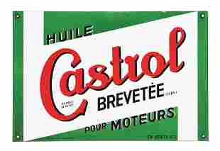 CASTROL MOTOR OIL PORCELAIN SERVICE STATION SIGN.