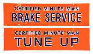 LOT OF 2: UNION 76 MINUTE MAN TUNE UP & BRAKE SERVICE