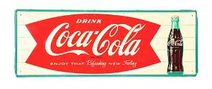 COCA-COLA TIN SIGN.